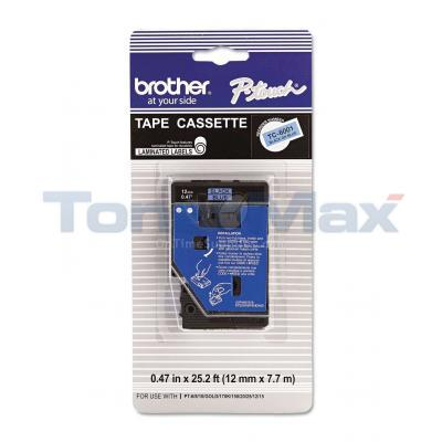 BROTHER P-TOUCH TAPE BLACK/BLUE (1/2 X 25)
